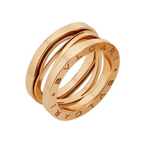 bulgari bzero1 b zero1 zaha hadid 18ct pink gold three band ring