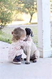Kids Hugging Animals Puppies