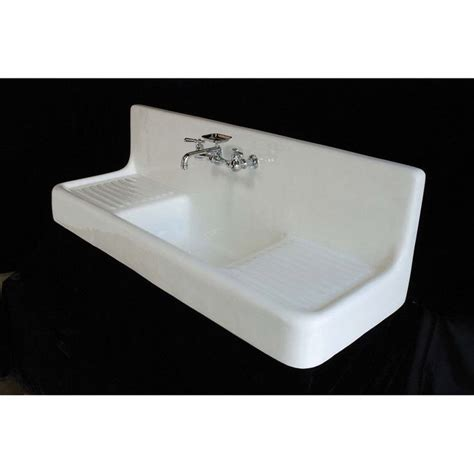 top mount farmhouse sink with drainboard 106 best images about cast iron sinks on