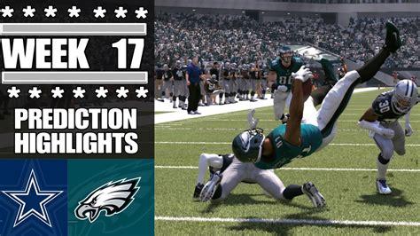 cowboys  eagles nfl week  game highlights madden