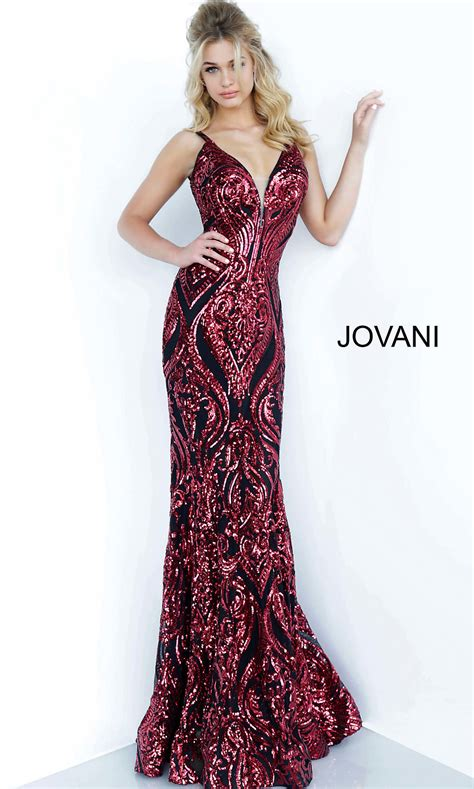 Long Two-Tone Sequin Deep V-Neck Prom Dress