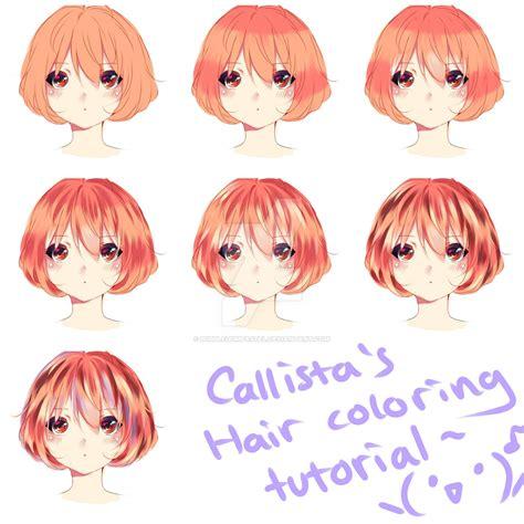Coloring Hair Anime hair coloring tutorial d by bubblegumpastel on deviantart