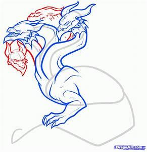 How to Draw a Hydra, Hydra Dragon, Step by Step, Greek ...
