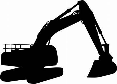 Silhouette Excavator Clip Clipart Transparent Bulldozer 1435