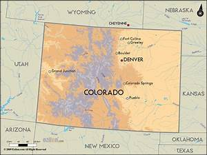Detailed Clear Large Road Map of Colorado and Colorado ...