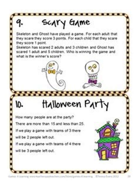 Hard Halloween Brain Teasers by 1000 Images About Math Carnival Night On Pinterest