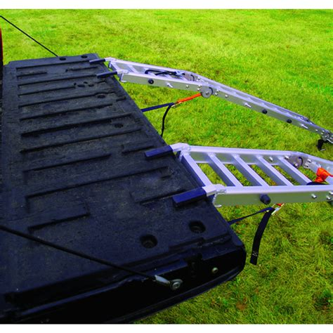 extreme max aluminum loading ramp set bed extender combo