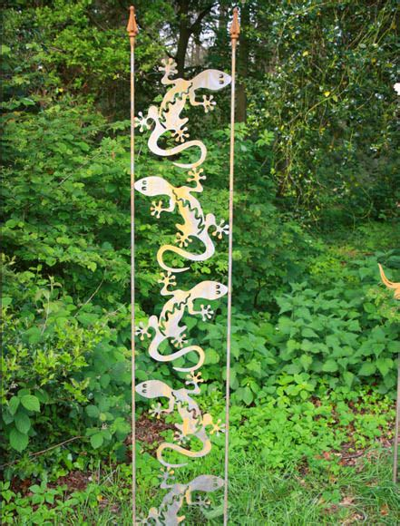 Garten Deko Gecko by Gartendekoration Rankhilfe Gecko Dekoschmiede