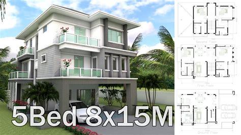 xm  story house design plan  bedrooms home design