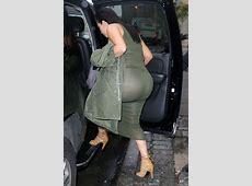 Kim Kardashian Shows Off Her Baby Bump, Nipples & Butt in