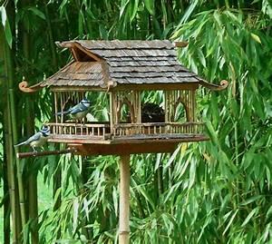 Mangeoire Oiseaux Sur Pied : 3dvert mangeoires pour oiseaux r alisations faites par un ami dans son jardin ~ Teatrodelosmanantiales.com Idées de Décoration