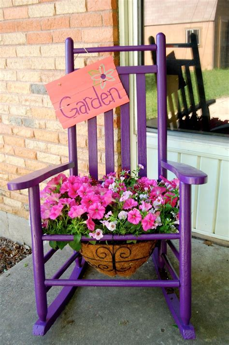 endless thought process  rocking chair planter
