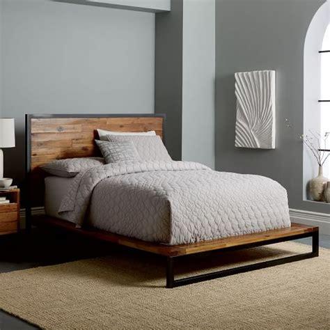 platform bed frame logan industrial platform bed west elm Industrial