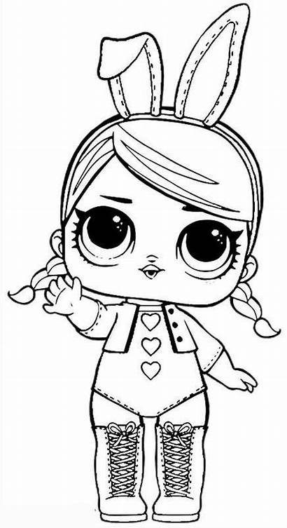Lol Coloring Dolls Doll Pages Printable Colouring
