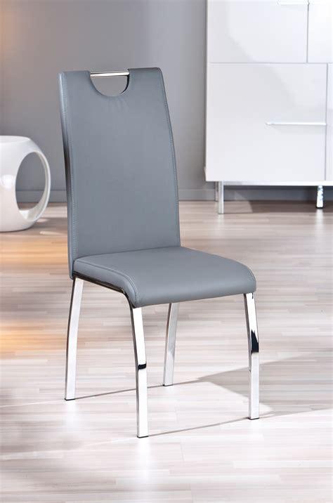 chaise salle a manger grise chaise design de salle à manger coloris gris lot de 2