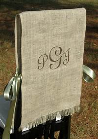 burlap chair covers Items similar to Burlap Bride and Groom Chair Covers ...