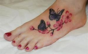 Tattoo Auf Dem Fuß : fu blumen schmetterling tattoo von hammersmith tattoo ~ Frokenaadalensverden.com Haus und Dekorationen