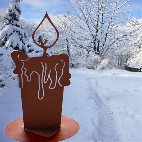 Advent Deko Für Draußen by Winterdekoration Garten Kerze Antike Advent Dekoration