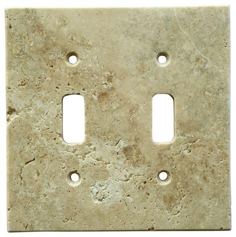 light walnut travertine switch plate cover toggle