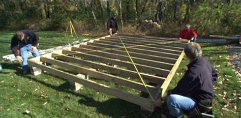 how to build a shed foundation designing and building a storage shed today s homeowner