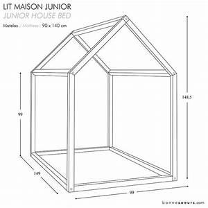 Lit Enfant Taille : bonnesoeurs design lit maison dimensions taille junior ~ Premium-room.com Idées de Décoration