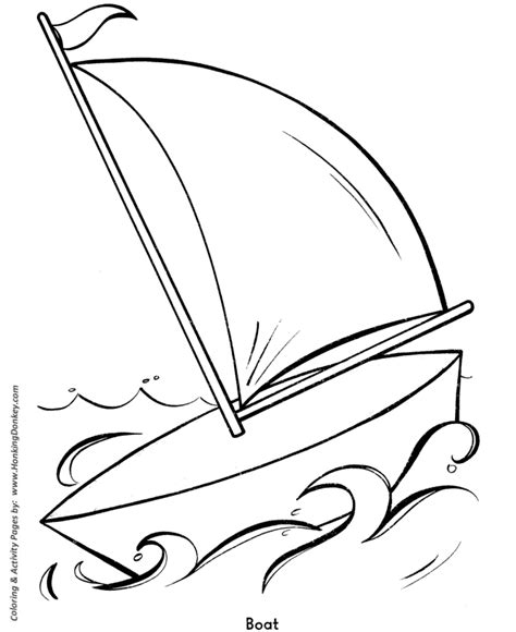 Boat Shape Drawing by Easy Shapes Coloring Pages Sailboat Easy Coloring