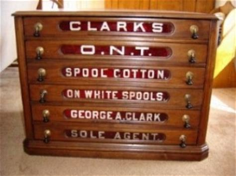 Antique Clarks Spool Cabinet by Iron Antiques Spool Cabinets Part 2