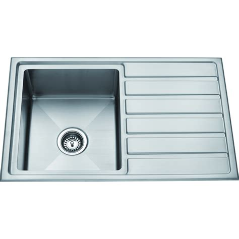 kitchen sink bunnings zen sink insert drainer 800x500mm stainless steel 2597