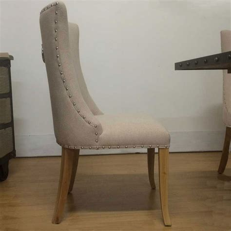 dining chairs ring back studded dining chair