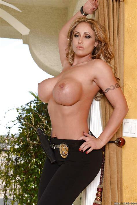 Top Heavy Blonde Milf Eva Notty Spreading Hose Covered