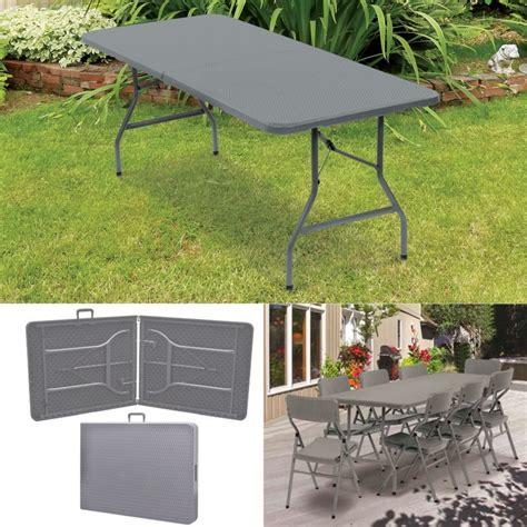 table pliante pour reception table pliante d appoint effet r 233 sine tress 233 e grise 180 cm pour