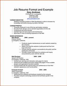 Examples Resumes Resume Templates Little Work