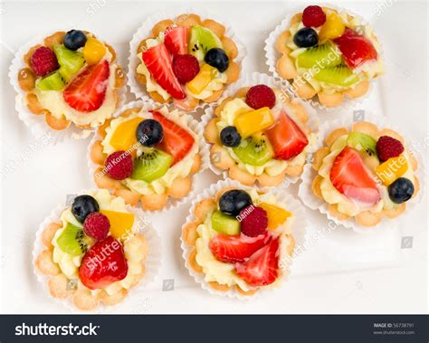 puff pastry canapes ideas dessert made fruit voulavent pastry stock photo