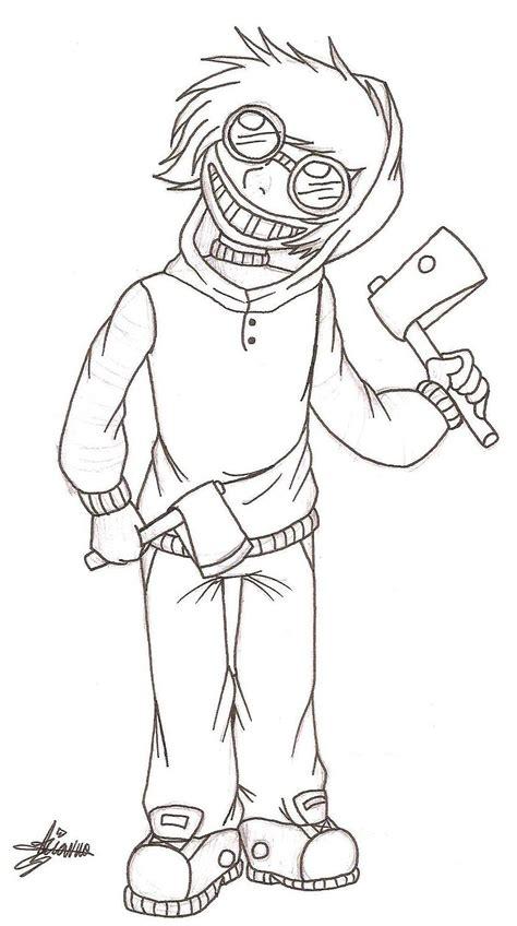 ticci toby creepypasta coloring pages sketch coloring page