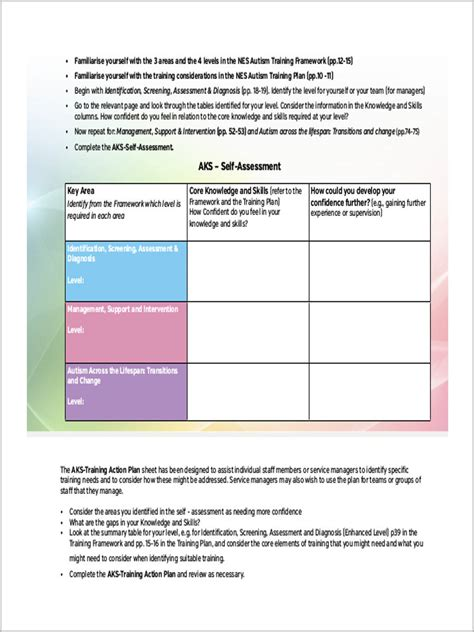 assessment forms   ms word excel