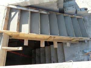 volumen de hormigon de una escalera