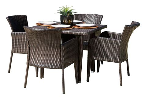 5 pc square outdoor dining set express home decor
