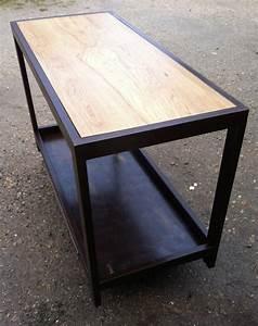 Table Chene Et Metal : table haute metal d montable ~ Teatrodelosmanantiales.com Idées de Décoration