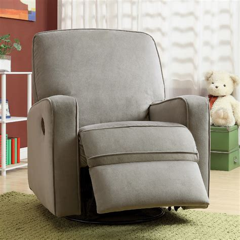 Recliner Rocker For Nursery Canada by Colton Gray Fabric Modern Nursery Swivel Glider Recliner