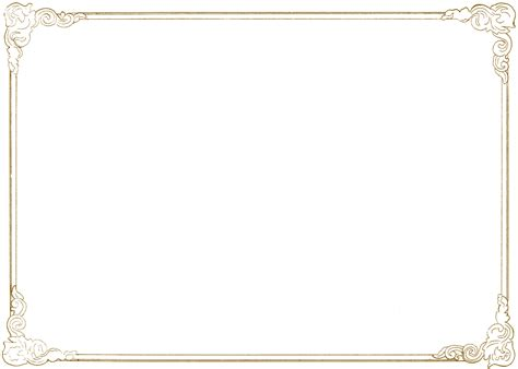 frame gold transparent png pictures  icons  png