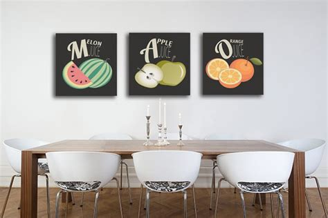 triptyque cuisine decoration murale design