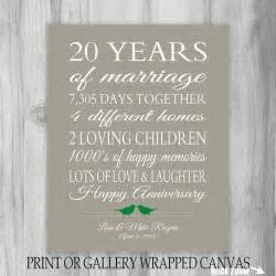 20th wedding anniversary gifts 20 year anniversary gift 20th anniversary by printsbychristine