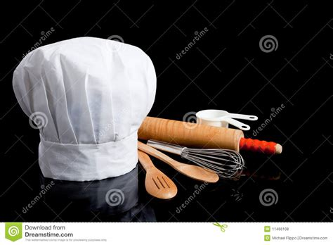 toqué 2 cuisine a chef 39 s toque with cooking utensils stock photo image