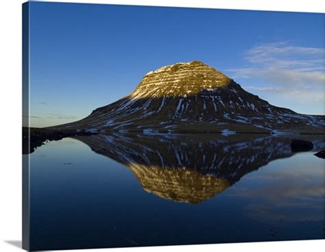 Kirkjufell Or Church Mountain Iceland Photo Canvas Print