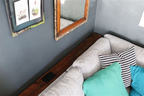 behind the couch diy diy narrow sofa with outlet