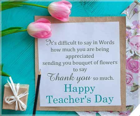 Thank You Card Teachers Day