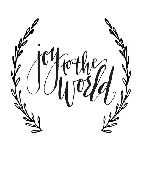 Joy to the World Calligraphy print Dreaming of a White