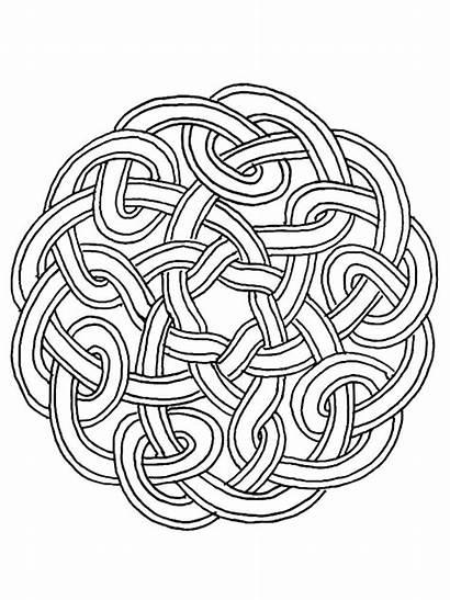 Coloring Mandala Pages Celtic Adults Knot Shamrock