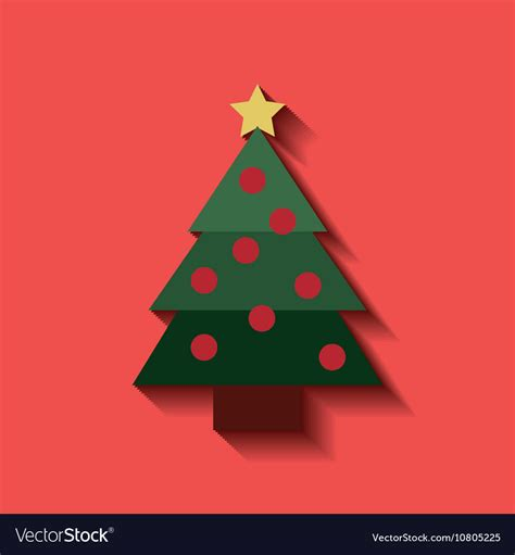 merry christmas tree icon royalty free vector image
