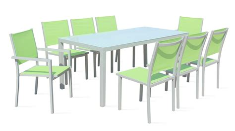 table et chaise de jardin en aluminium awesome salon de jardin aluminium et polywood images